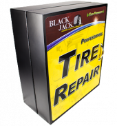 Tire Repair Cabinet Black Metal
