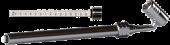 Gauge, Large Bore Swivel Head 10-150 psi w/ Alum. Slide