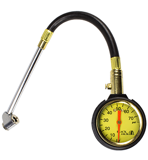 Dial Tire Gauge w/Hose (0-160 PSI)