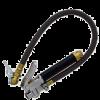 Tire Inflator Gauge 0-130 PSI w/ Flow-Thru Chuck
