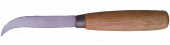 Curved Skiving Knife Wooden Handle