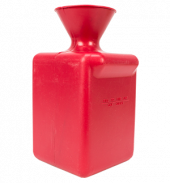 Red Plastic Swab Bucket Straight Neck