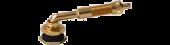 "Valve Stem  3 1/8"" Eff. Length (Large Bore), 80 Degree bend With Spud"