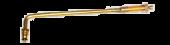 """Vs-J660 - Large Bore Swivel Valve Stem 8 3/4"""" Long 90 Degree Bend"""