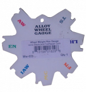 Wheel Weight Rim Gauge Plastic